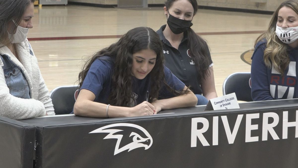 Canyon Ridge's Ortiz signs with Spokane Falls Community College. The volleyball player signed...