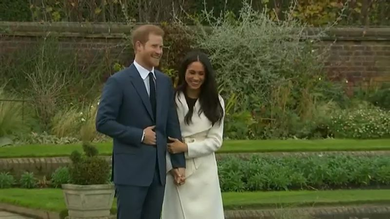 Prince Harry and his wife, former American actress Meghan Markle.