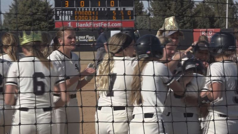 CSI softball takes home-opening double header against Southern Nevada. Maizie Clark hits...