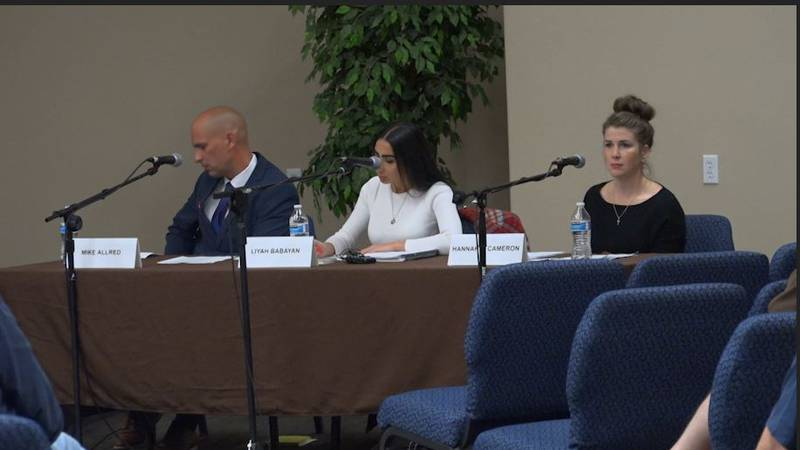 Twin Falls City Council Candidates for seat 5. Mike Allred, Liyah Babayan, and Hannah Cameron....