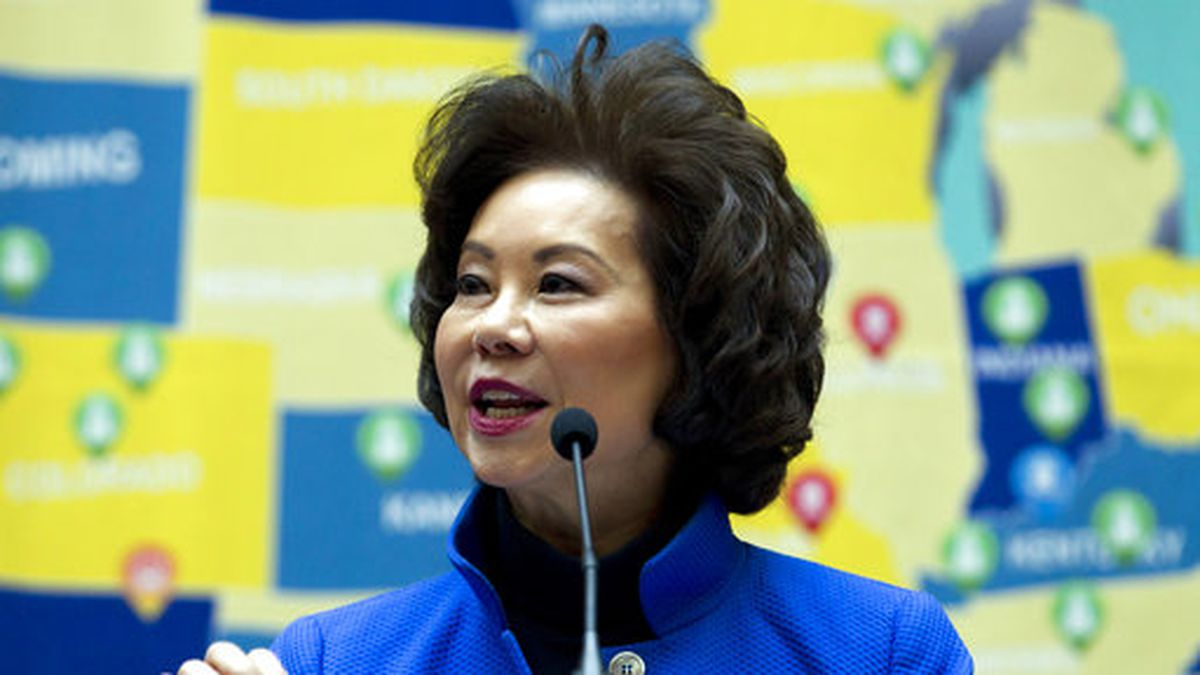Transportation Secretary Elaine Chao speaks during a  infrastructure investment announcement at transportation headquarters in Washington, Tuesday, Dec. 11, 2018. (AP Photo/Jose Luis Magana)