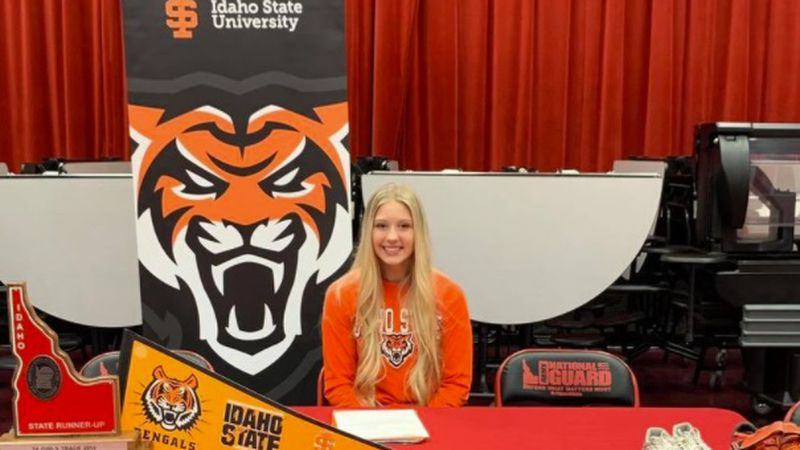 A Gooding High School pole vaulter is going to Idaho State University to continue her athletic...