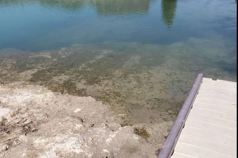 Low water levels Shoshone Falls Dam
