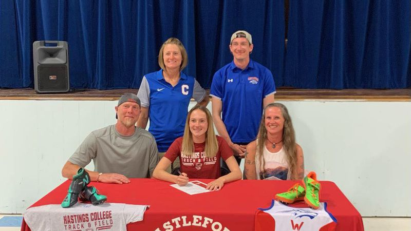 Castleford's Zailee Poulson signed with Hastings College in Nebraska.