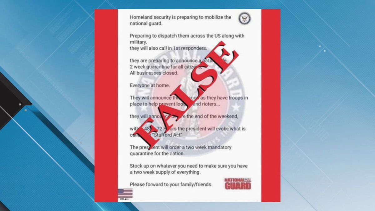 Scam impersonating National Guard going around social media again. The scam says there will be...