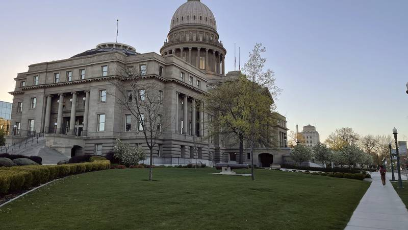 The Idaho Statehouse is seen at sunrise on April 20, 2021, in Boise, Idaho. Mainstream and...