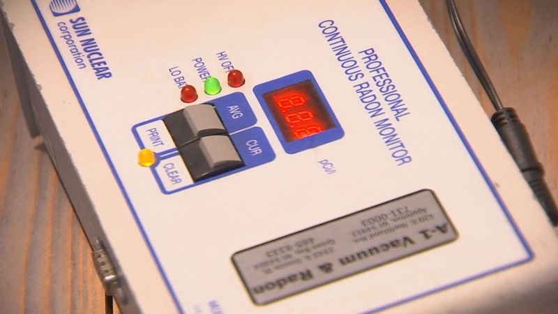 Tests like this can be installed in homes to detect high levels of radon.