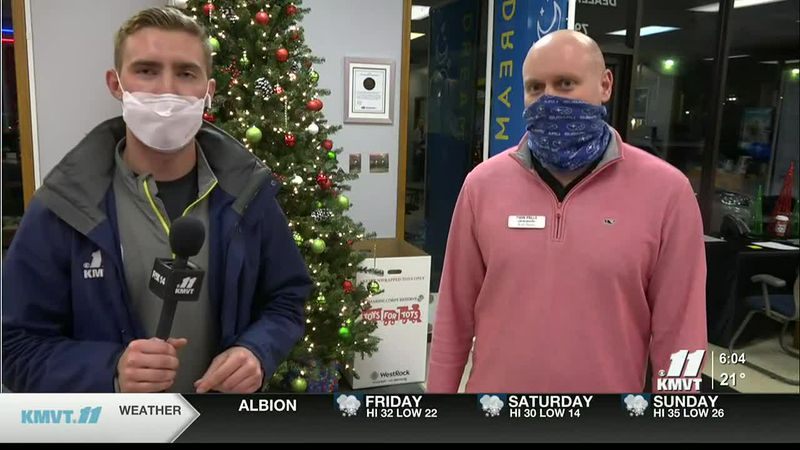 KMVT's Jack Schemmel is live Thursday, Dec. 10 at Twin Falls Subaru for at Toys for Tots toy...