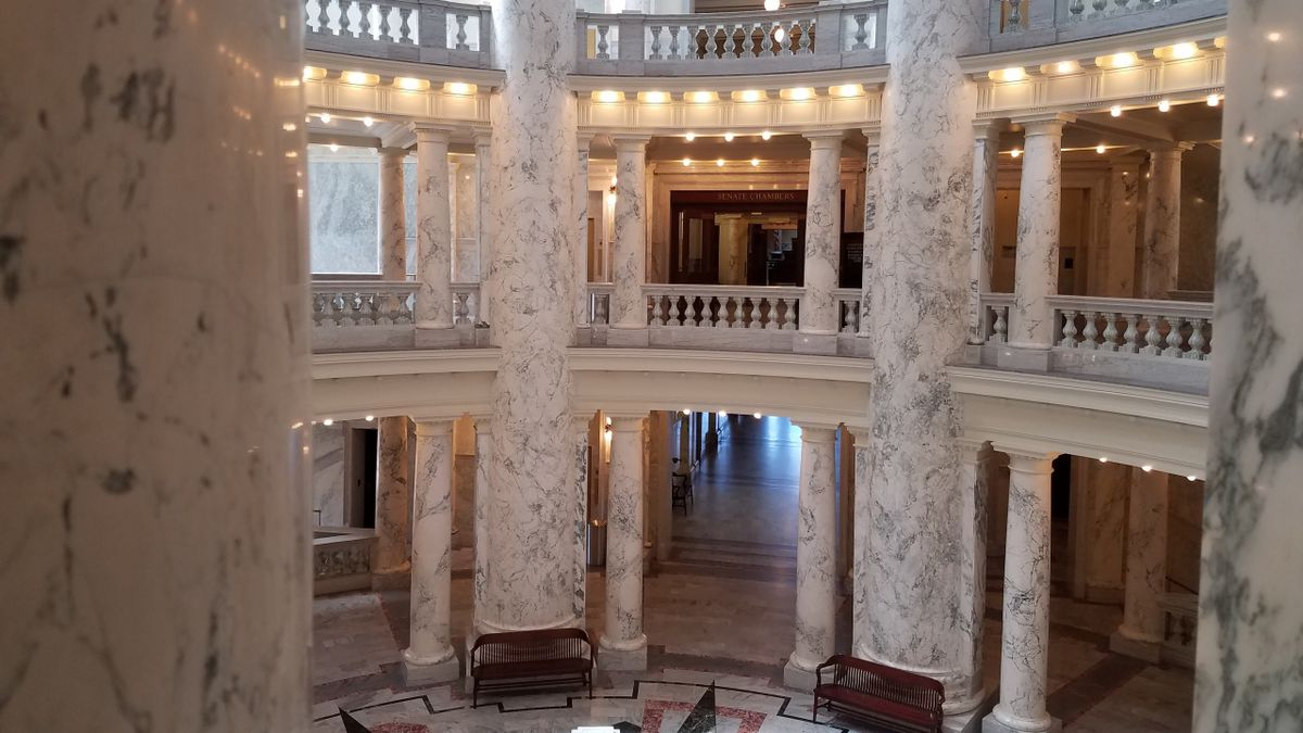 Inside the Idaho State Capitol building (Source: KMVT 2017)