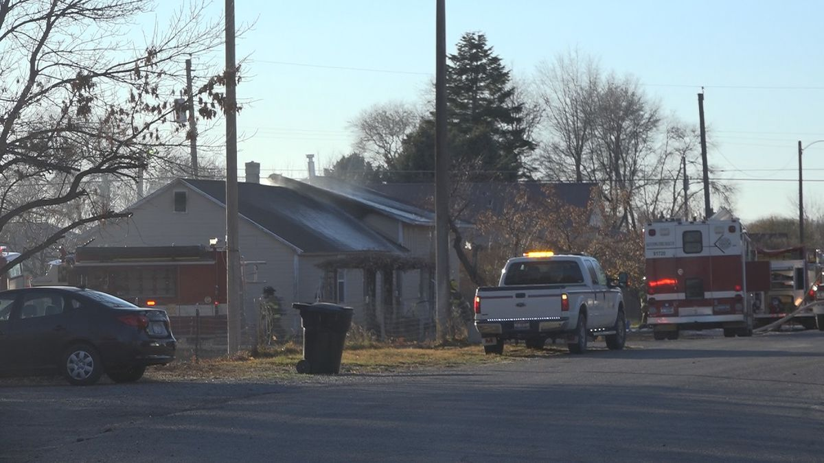 Crews responded to a fire in Gooding Saturday afternoon. (KMVT)