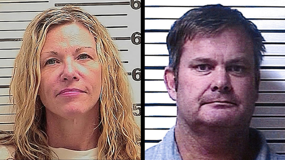 Lori Vallow Daybell and Chad Daybell are seen in police mugshot photos.