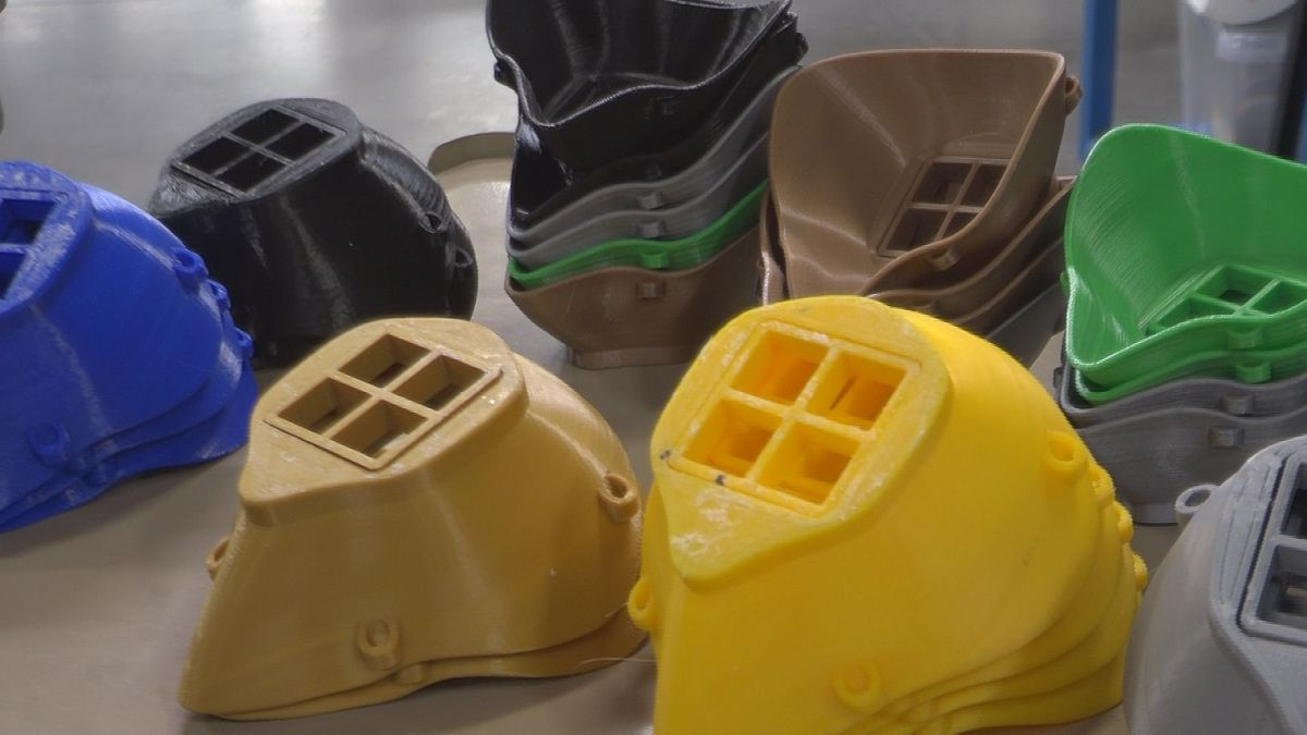 The masks take several hours to make, and right now, up to 60 can be made in one day (KMVT)