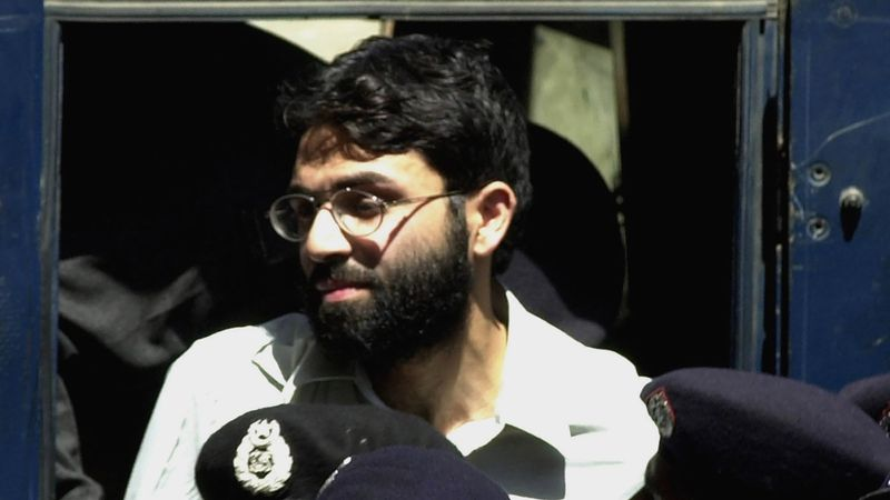 FILE - In this March 29, 2002 file photo, Ahmad Saeed Omar Sheikh, the alleged mastermind...