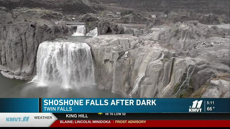 """Shoshone Falls, or the """"Niagara of the West,"""" will now be light up after dark in May."""