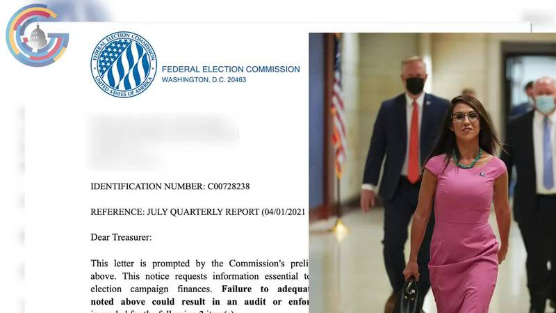 The Federal Election Commission sent Rep. Lauren Boebert's (R-CO) campaign a letter in August...