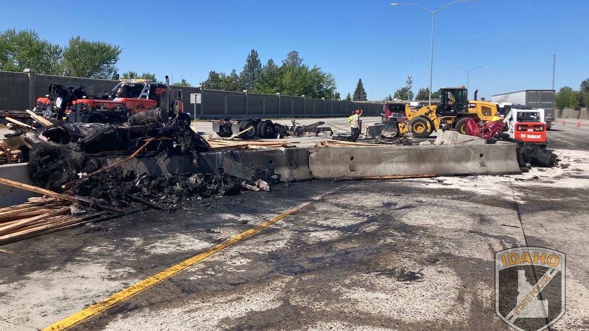 Nine vehicles involved in fiery crash along I-84; one person has life-threatening injuries...