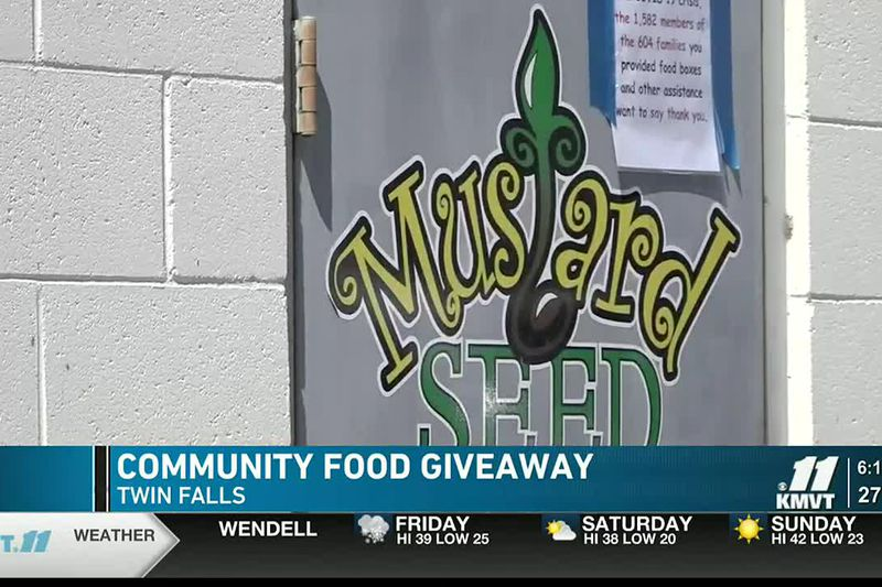 The giveaway is happening outside of Twin Falls County West.