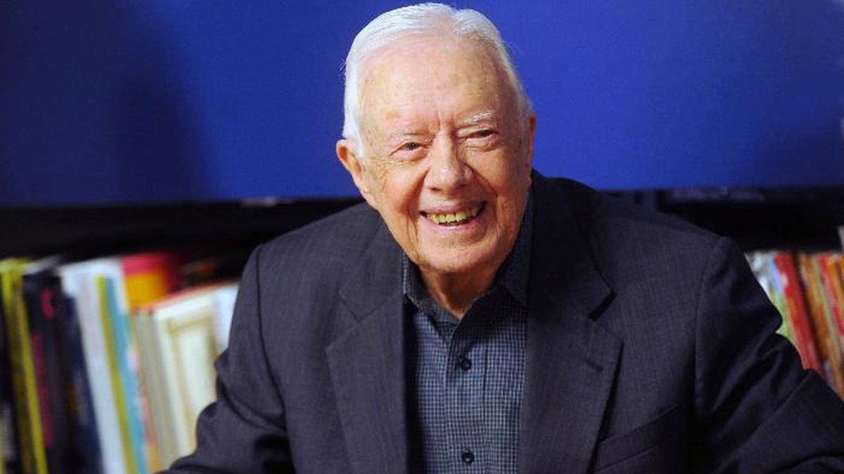 "November 14th 2019 - Former President of The United States of America Jimmy Carter is recovering at Emory University Hospital in Atlanta, Georgia following surgery to relieve pressure on his brain from bleeding after a number of recent falls. - October 7th 2019 - Former President of The United States of America Jimmy Carter injured after falling at his Georgia home on Sunday, October 6th. He required 14 stitches in his head and suffered a black eye. - File Photo by: zz/Dennis Van Tine/STAR MAX/IPx 2018 3/26/18 Jimmy Carter signs copies of his new book, 'Faith"" at Barnes & Noble in New York City. (NYC)"