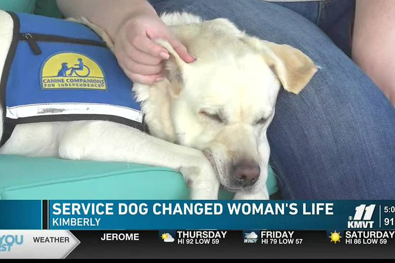 These days Lacee Clinger has her constant companion and service dog Rhenny by her side to help...