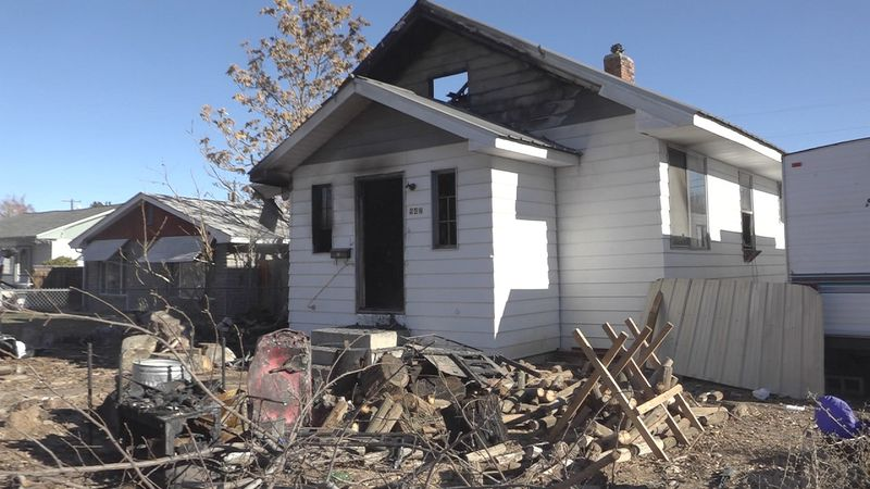 A family of three lost almost everything in a house fire Wednesday morning