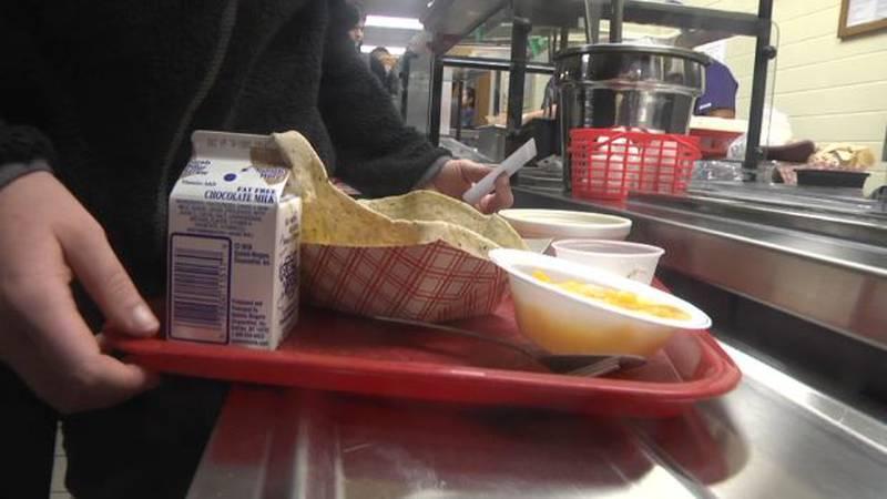 File photo, school lunch line
