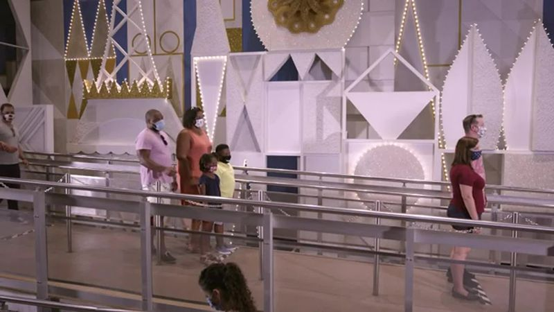 Starting Thursday, visitors to the theme park resort will be able to remove their masks...