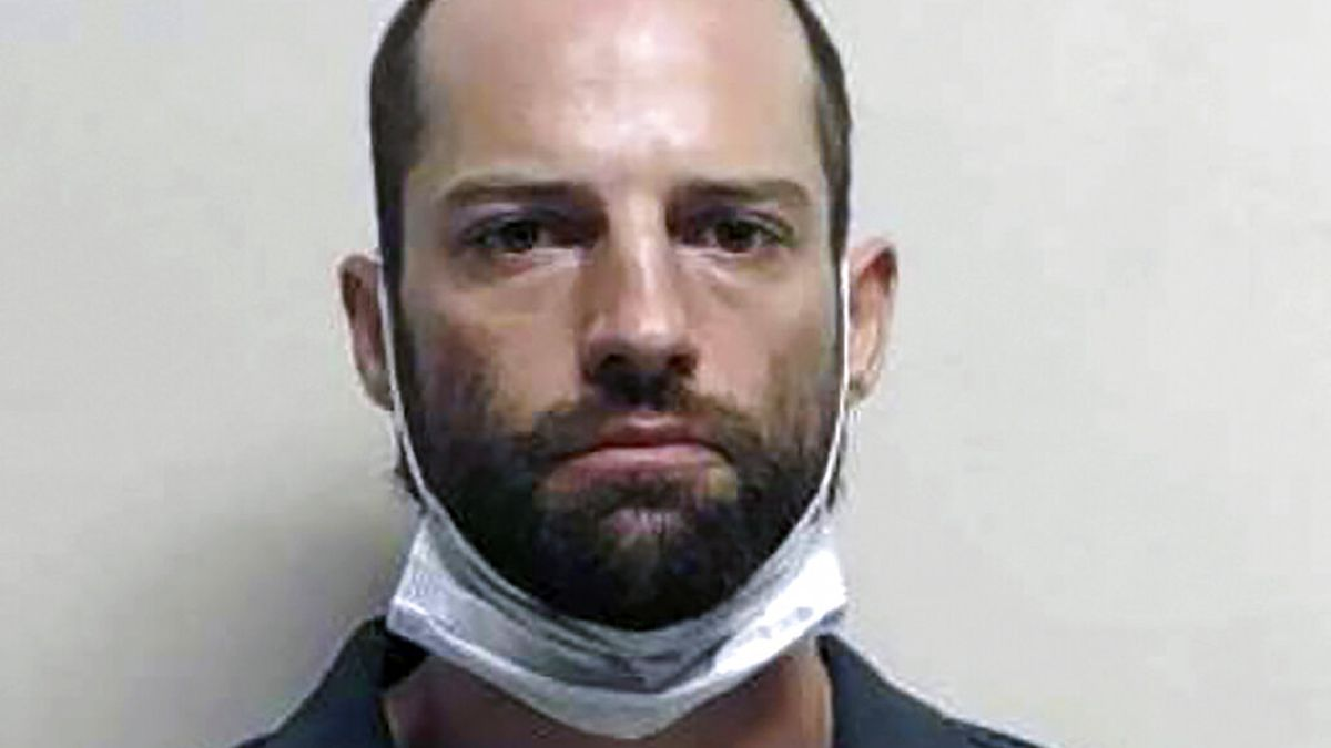 This undated booking photo provided by Utah County Sheriff's Office shows Jesse K. Taggart, who is accused of shooting a man who tried to drive through protesters who were blocking traffic in Provo, Utah, during a rally decrying police brutality. Taggart, 33, of Salt Lake City was arrested Tuesday, June 30, 2020, on suspicion of attempted murder, aggravated assault and other charges. (Utah County Sheriff's Office via AP)