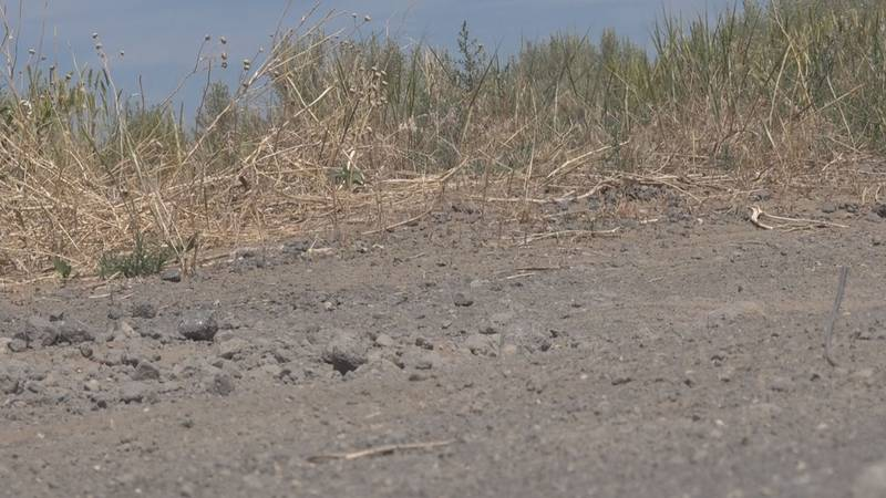 Burn scar contributing to flash flooding in Cassia County