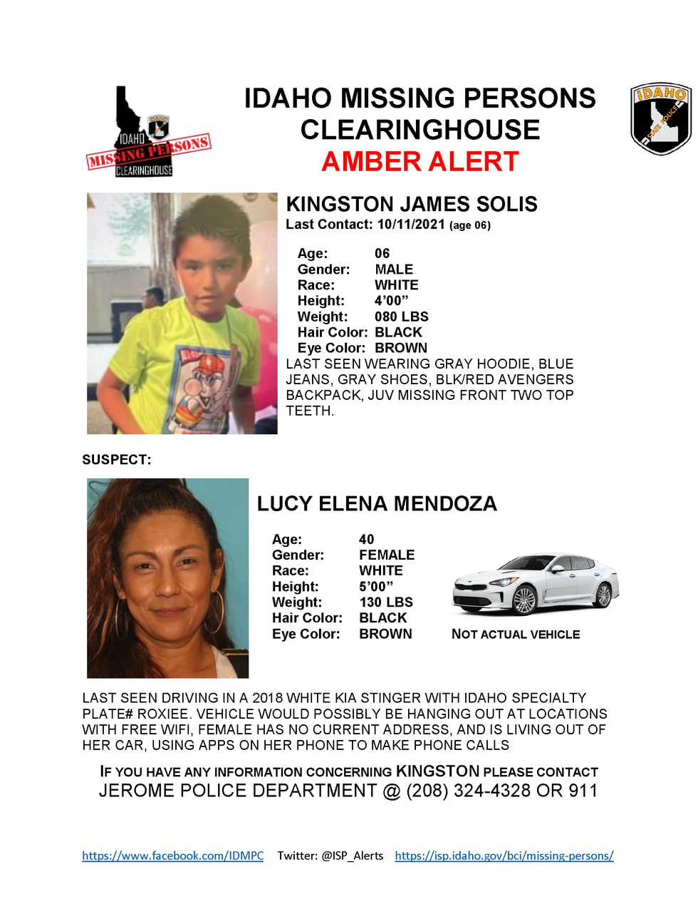 The missing boy is described as a six year old with a gray hoodie and blue jeans
