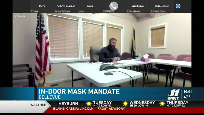 Bellevue joins Hailey, Ketchum, Sun Valley, and Blaine County as far as passing mask mandates...