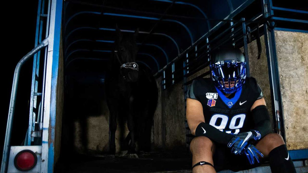 Boise State unveils new black uniforms that they will use for Black Out Night on September 20.