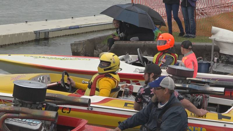 No matter rain or shine, boat racers at the Idaho Regatta were out in full force this morning....