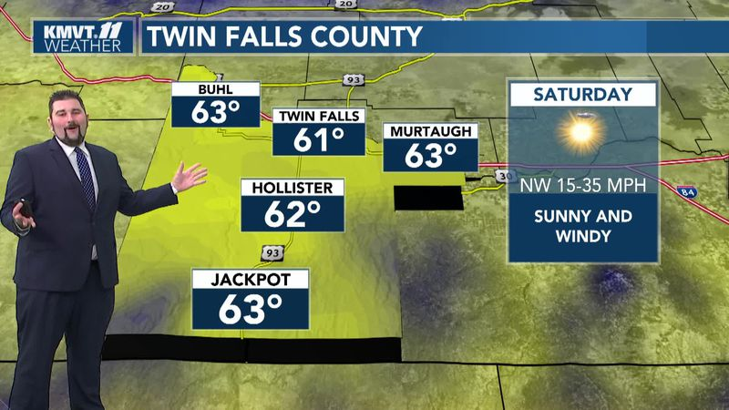 Cooler temps will be back on Sunday