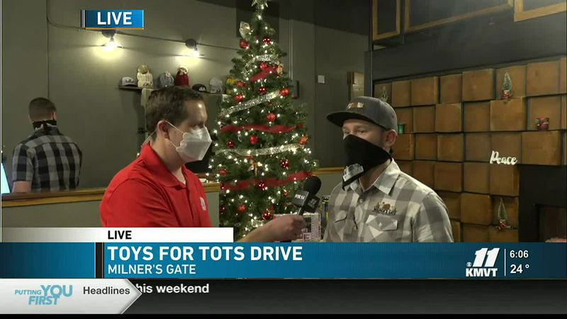 KMVT's Layne Rabe is live at Milner's Gate on Dec. 5. The business is collecting toys for this...