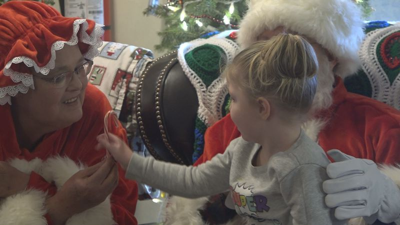 The kids at the Valley House Homeless Shelter got a visit from Mr. and Mrs Clause this week.