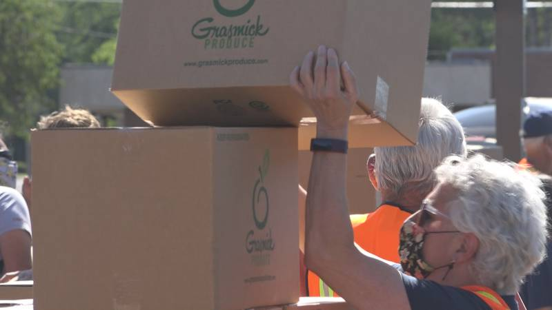 In this photo,1,500 food boxes were handed out to Twin Falls County residents. More than 40...