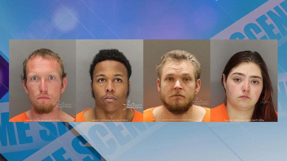 The first of four people convicted of attacking a Boise woman and leaving her for dead in the foothills has been sentenced to 15 years in prison. From left to right, Cody Baker, Justice Bowie, Kevin Ivey and Brianna Brown (Source: Ada County Sheriff's Office)