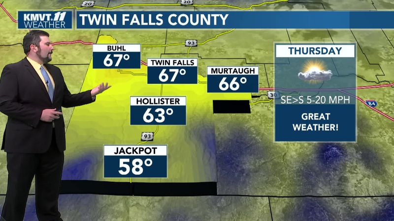 Turning cooler with some showers on Friday, Saturday