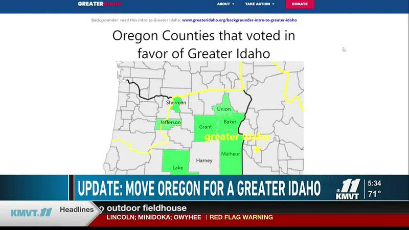 The ballot measures are a part of an effort to move the Oregon/Idaho border