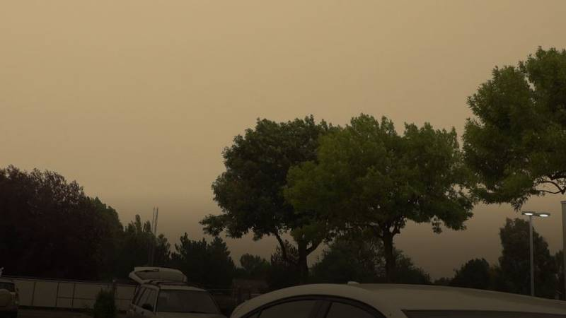 The smoke was strong Friday (8/6) in Twin Falls