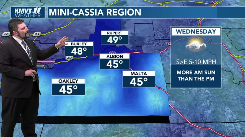 Better weather expected for Friday and the weekend