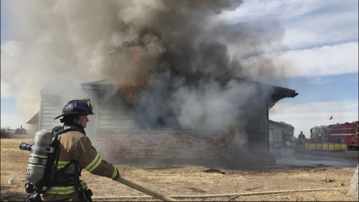 Members of the Twin Falls Fire Department take part in a training exercise Thursday. (Source: KMVT)