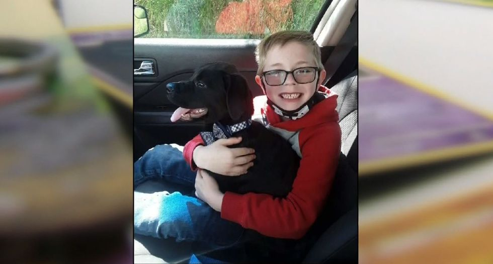 Bryson Kiliman got a new best friend in Bruce, a rottweiler-lab mix. At only 4 months old,...