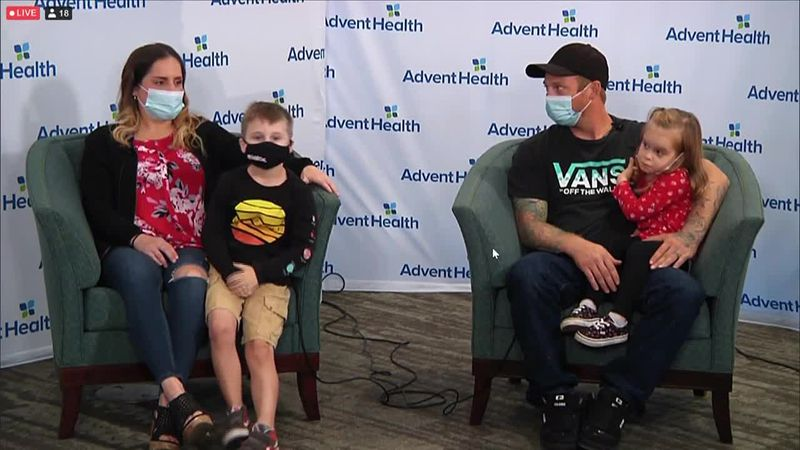 Two Florida families involved in a kidney swap met for the first time three months after the...