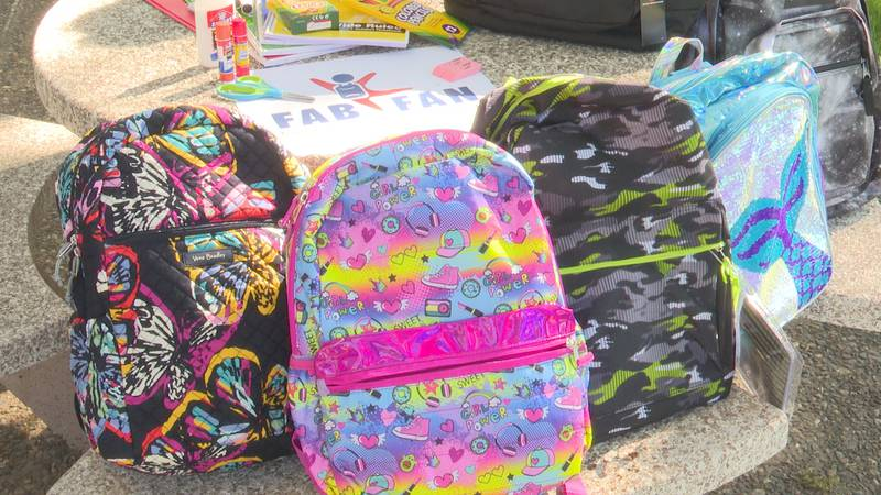 Backpacks for the donations