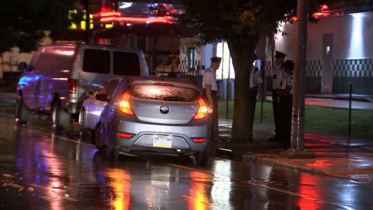 Crowded roads allowed mom and dad to chase down the car and yank him from the driver's seat. (Source: KYW/CNN)