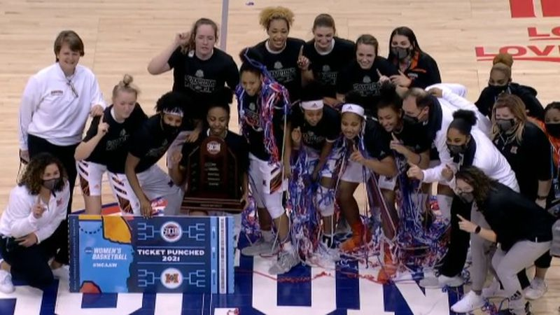 Allie Thayne is about to start dancing after her Mercer Bears booked a ticket to the NCAA...