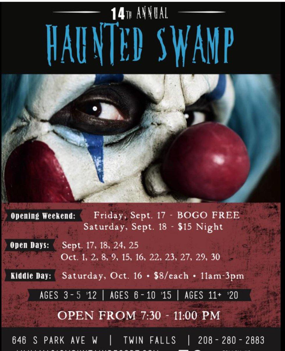 Twin Falls Haunted Swamp is hosting Kiddie Day Saturday