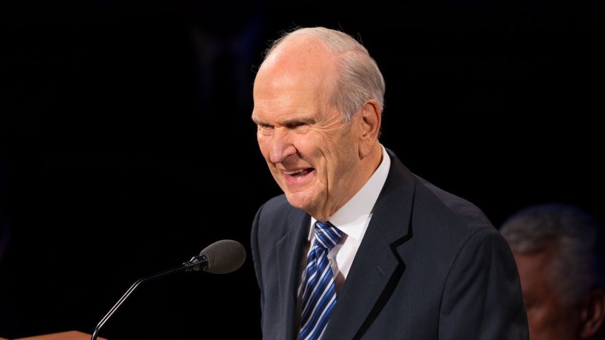 President Russell M. Nelson, president of the Quorum of the Twelve Apostles, speaks at the funeral of Elder Robert D. Hales of the Quorum of the Twelve Apostles in the Tabernacle on Temple Square, Friday, October 6, 2017.  ©2017 BY INTELLECTUAL RESERVE, INC. ALL RIGHTS RESERVED.