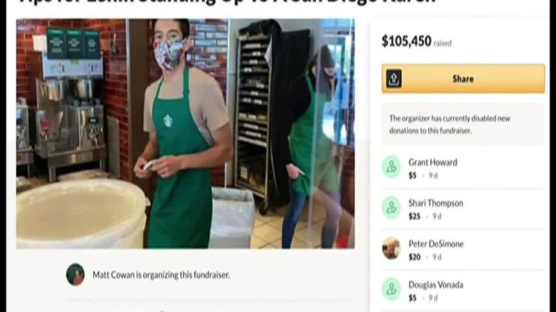 A Gofundme raised funds for a Starbucks barista who had drawn the ire of a woman who didn't...